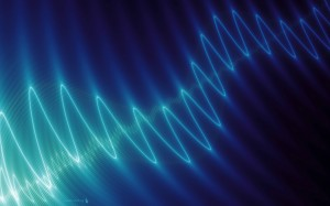 waveform blue